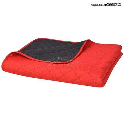 Κουβερλί Καπιτονέ Διπλής Όψης Κόκκινο και Μαύρο 220 x 240 εκ.