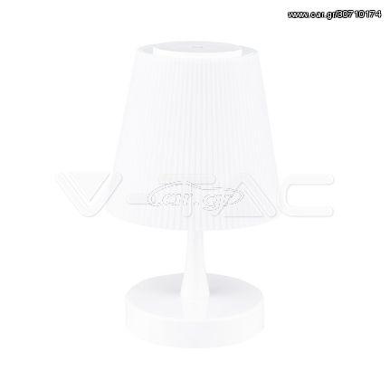 V-TAC 5W LED Επαναφορτιζόμενο Επιτραπέζιο φωτιστικό με κουμπί αφής