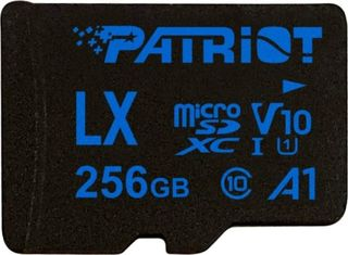 PATRIOT PSF256GLX11MCX LX SERIES 256GB MICRO SDXC V10 A1 CLASS 10 WITH SD ADAPTER.