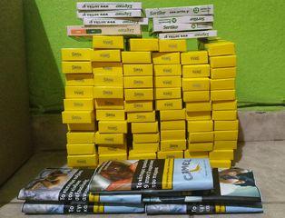 Swan Φιλτράκια 70 πακετα Classic Extra Slim Κίτρινο 5.7mm 120+ 5 Καπνοι αθικτοι Camel Blue