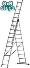 Σκάλα αλουμινίου επαγγελματική TOTAL 3Χ9 σκαλοπάτια ( THLAD03391 )