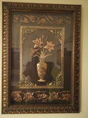 Χαλκογραφία πίνακας μαζί με την κορνίζα