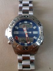 Citizen -jaga blue dial aqualand professional depth meter 200