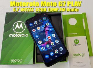 "75€ Motorola Moto G7 Play 5.7"" ΙΝΤΣΕΣ 13MP DUAL camera 32GB ROM 2GB RAM 8-Core Snapdragon καινούριο BEST PRICE !!"