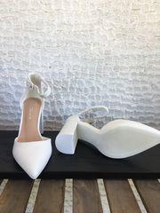 Λευκά νυφικά πέδιλα
