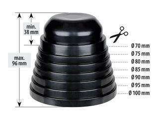 Καπάκι Επέκτασης Στεγανοποίησης Φαναριού Λάμπα LED/Αλογόνου 7cm-10cm