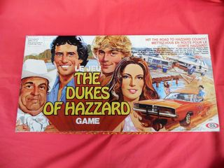 """"""" THE DUKES OF HAZZARD"""" επιτραπέζιο παιχνίδι της IDEAL TOY του 1981."""