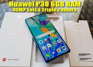 265€ Huawei P30 6GB RAM 6,1'' ΙΝΤΣΕΣ 40MP Leica Triple camera 128GB ROM DUAL SIM ΑΡΙΣΤΟ σαν καινούριο BEST PRICE !!