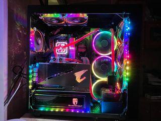 Ultra Gaming PC Aorus - Ryzen 5 - 32GB - Waterforce - RTX2080TI - Full Custom Water Loop - RGB