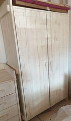 Παιδική ντουλάπα συρταριέρα και κρεβάτι μαζί με στρώμα ΣΕΤ