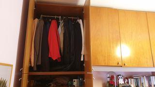 ντουλάπα και διπλό κρεβάτι