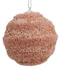 Χριστουγεννιάτικη Μπάλα Ροζ (10cm)
