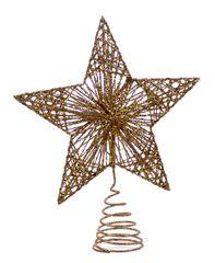 Χριστουγεννιάτικη Κορυφή Δέντρου Χρυσή (25cm)