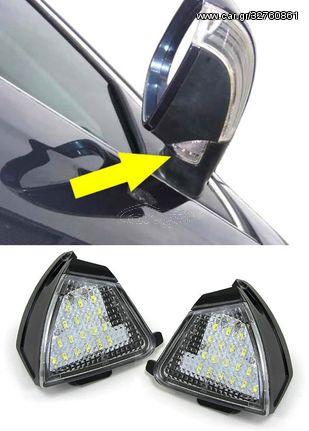Φωτισμός Εξωτερικού Καθρέφτη LED Λευκό Για Volkswagen Passat 3C 2005-2010 (CAR21241)