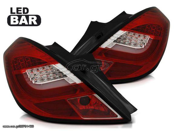 Πίσω Φανάρια LED Red-white Για Opel Corsa D 3D 04.2006-2014  (CAR22315)