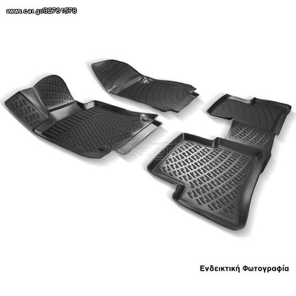 Πατάκια Σκαφάκια 3D Για Skoda Octavia 2 2004-2013 RL125160 Μαύρα Rizline (CAR22402)