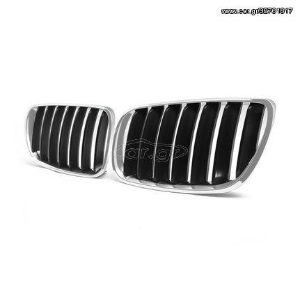 Κεντρική Μάσκα Για BMW X3 E83 2007-2011 μαύρο-χρώμιο (CAR22521)