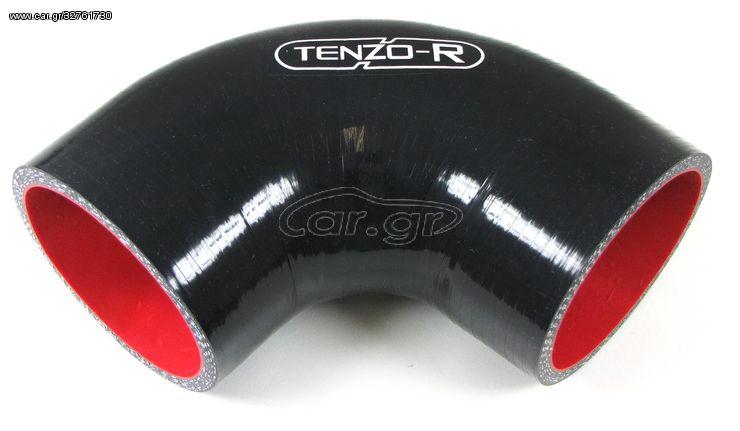 Κολάρο Σιλικόνης Γωνία 90° 76mm Μαύρο Tenzo-R (CAR22667)