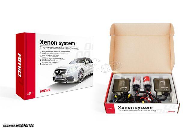 Xenon kit type S1068 Canbus H7M με μεταλλική βάση 8000K Amio 01911 (CAR23422)