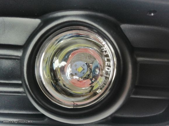 Σέτ Μάσκα και LED Προβολάκια Ομίχλης για Vw Golf / Vento 1993 - 1997 FZHALG32
