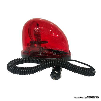 Φάρος Οβάλ 12V 20W Κόκκινο (CAR23991)
