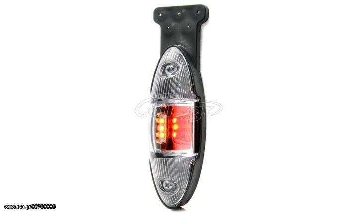 LED Φωτιστικό Πλευρικής Σήμανσης 15cm με Βάση και Е-Mark 12V / 24V IP68 FZPL0152