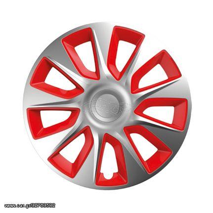 """Τάσια 15"""" Stratos 101461 Ασημί και Κόκκινο CΒΧ 4 τεμ. (CAR24326)"""