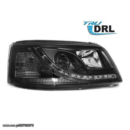 Φανάρια VW T5 04.03-08.09 TRU DRL Black (CAR24425)
