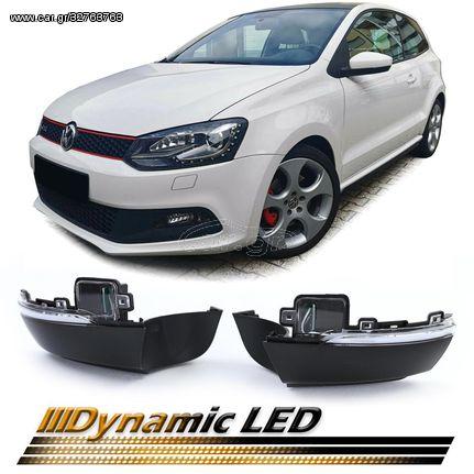 Φλας Καθρέπτη Dynamic Led Black Smoke Για VW Polo 6R 6C 09-17 39508 (CAR24503)