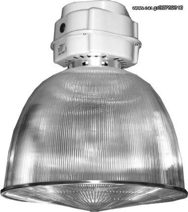 ACA Καμπάνα Κενή Με Κρυσταλιζέ Ανταυγαστήρα E40 Ø47 - AC.319RE