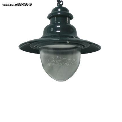ACA Κρεμαστό Φωτιστικό Αλουμινίου Διαφανές Γυαλί E27 Ø30 - AC.045F30K