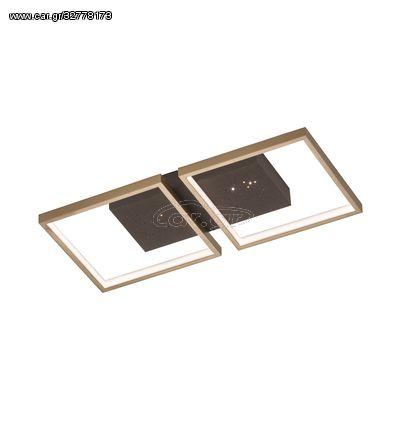 Fischer Honsel Led Πλαφονιέρα Φωτιστικό Οροφής Pix Καφέ-Σκουριά 54x25,5 (30014)