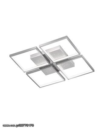 Fischer Honsel Led Πλαφονιέρα Φωτιστικό Οροφής Pix Αλουμίνιο-Χρώμιο 54x54 (20114)