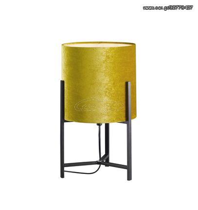 Fischer Honsel Επιτραπέζιο Φωτιστικό Evin Χρυσό Βελούδο-Μαύρο ματ (50234)