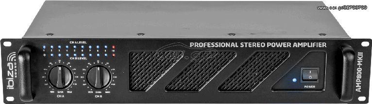 Ibiza Sound AMP800-MKII Τελικός Ενισχυτής Ισχύος 2x600Watt / 4Ohm