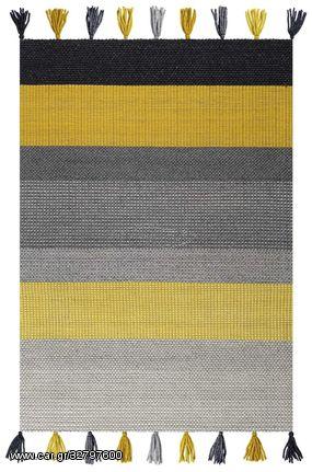 Χαλί Χειροποίητο Plex 106 Grey/Yellow - 250x300