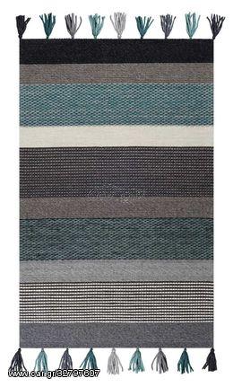 Χαλί Χειροποίητο Plex 109 Grey/Green - 200x300