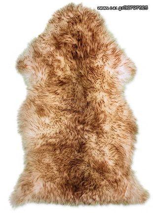 Γούνα Προβάτου Brown tips - 60x105