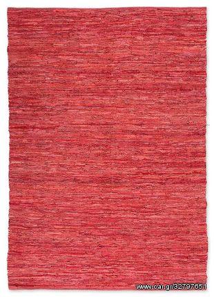 Δερμάτινη Χειροποίητη Κουρελού Κόκκινη - 80x160