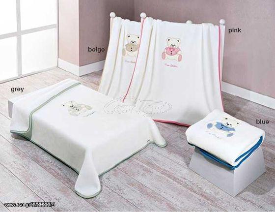 Παιδική Κουβέρτα Βελουτέ Baby Nancy 545 - Blue