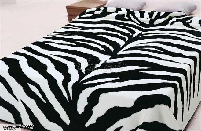 Κουβέρτα Βελουτέ Ster 139 - Black