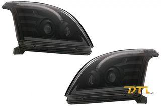 ΦΑΝΑΡΙΑ ΕΜΠΡΟΣ TOYOTA Land Cruiser FJ120 (2003-2009) Black with Dynamic Turn Signal LHD