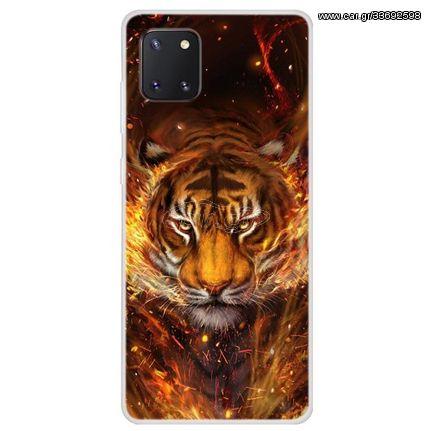 Θήκη Σιλικόνης TPU για Samsung Galaxy A81 / Note 10 Lite - Τίγρης
