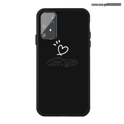 Θήκη Σιλικόνης TPU Σχέδιο Καρδιά για Samsung Galaxy S10 Lite / A91 - Μαύρο