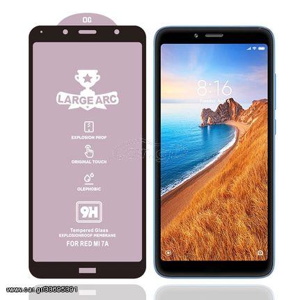 For Xiaomi Redmi 7A 9H HD Large Arc High Alumina Full Screen Tempered Glass Film