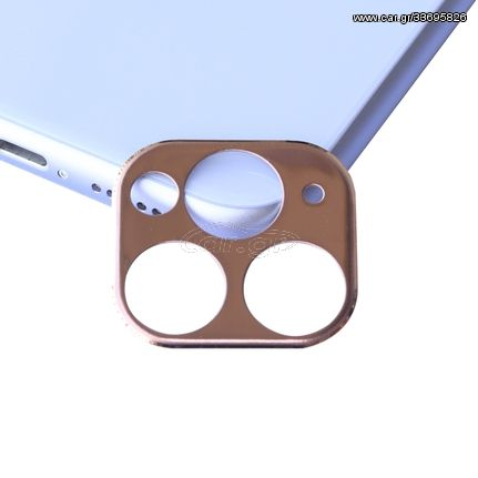 Aluminum Alloy Camera Lens Protector for iPhone 11 Pro / 11 Pro Max(Rose Gold)