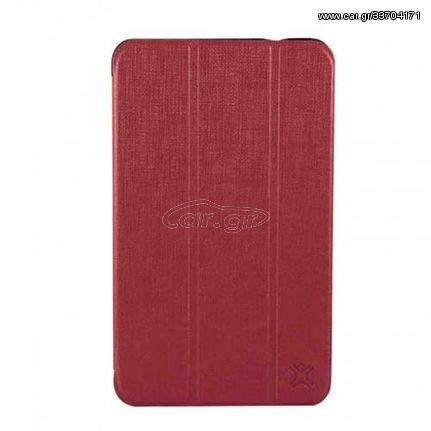 XtremeMac Δερμάτινη Θήκη Βιβλίο με Βάση Στήριξης και Όψη Ανάγλυφη για Samsung Galaxy Tab S 8.4 T700 T705 - Κόκκινο