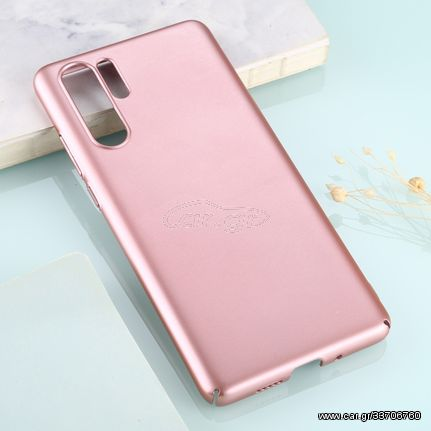 For Huawei P30 Pro Solid Color Plastic Protective Case(Rose Gold)