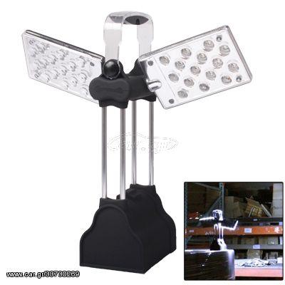 Wing Camping and Garden Lantern Light, 30 LED 2-Mode White Light Lamp(Black)