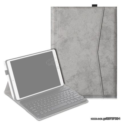 For iPad 10.2 Marble Cloth Texture Horizontal Flip Leather Case with Pen Slot & Holder without Keyboard(Grey)